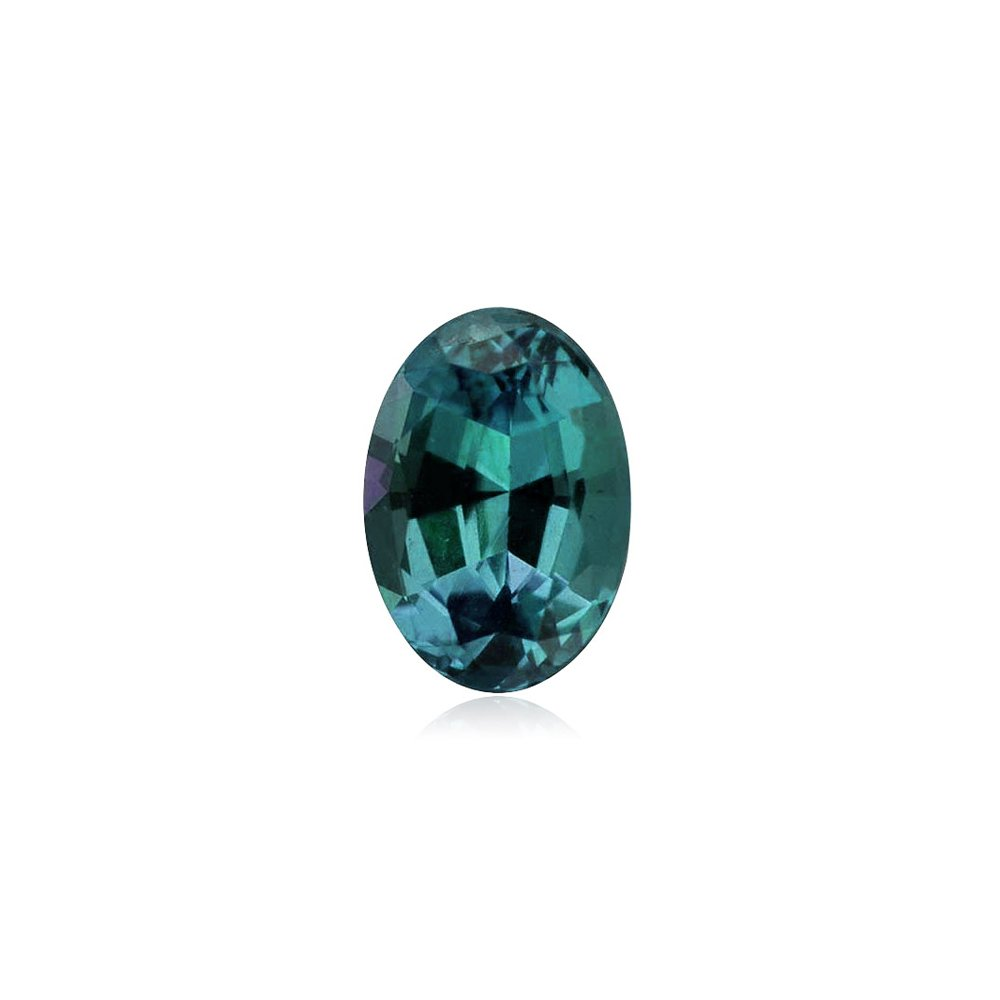 6.71-7.54 Cts of 14x10 mm AAA Oval Russian Lab Created Alexandrite ( 1 pc ) Loose Gemstone