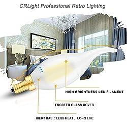 CRLight 5000K Dimmable LED Candelabra Bulb 6W Dayl