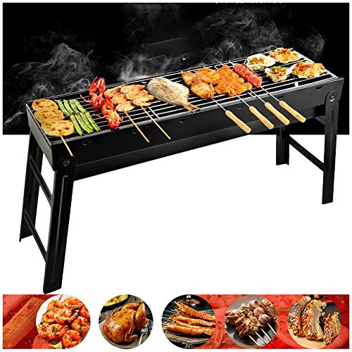 YXYLD Barbecue Charcoal Grill,with Stainless Steel Rectangular Barbecue Grid Field Tools Full Set Foldable for barbecues…