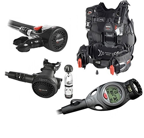 Mares Hybrid Pure BCD Scuba Diving Regulator Package with Dive Computer XL