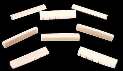 Amazon Com Acoustic Guitar Parts Slotted Bone Nut 8 Pieces Set Size