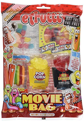 Gummy Movie Bag - E Frutti Gummy Candy, 2.7 (Gummy Popcorn)