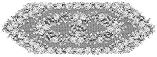 product image for Heritage Lace Tea Rose 14-Inch by 48-Inch Runner, Ecru