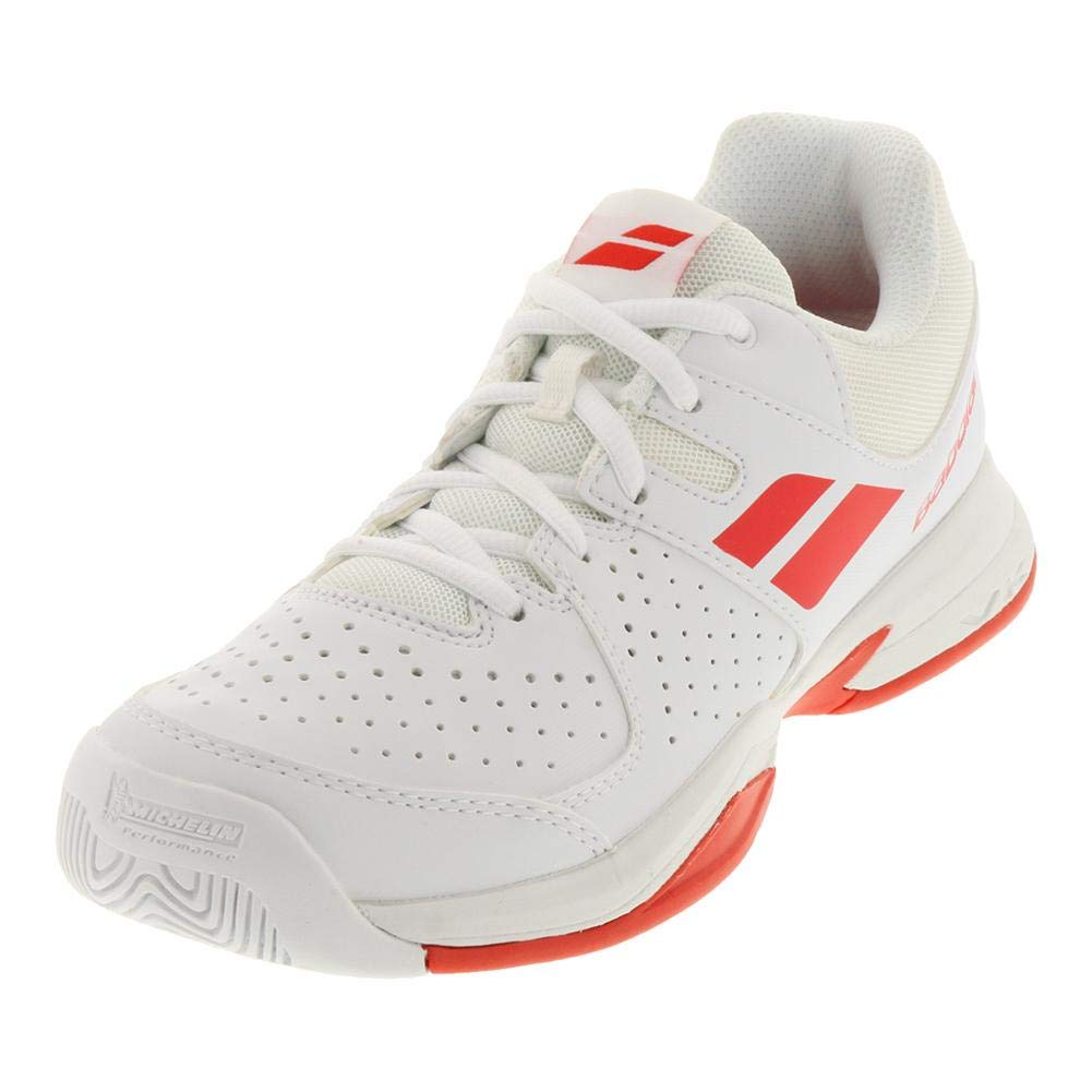Babolat Pulsion AC Juniors Tennis Shoes White Red