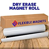 Dry Erase Magnetic Roll, Glossy White Write on/Wipe Off Magnet, 24 inches by Flexible Magnets (2 ft x 3 ft)