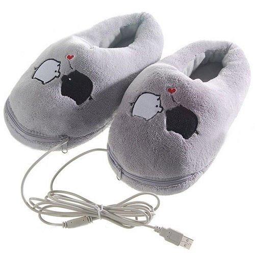 SODIAL (R) Cartoon Pig USB cojín de calefacción Zapatillas ...