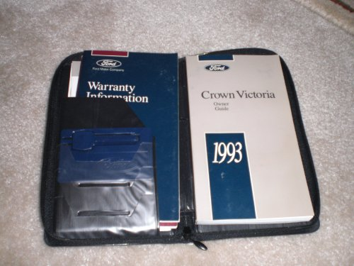 1993 Ford Crown Victoria Owner Guide and Black Leather Case
