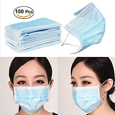Pollution Green Dust -disposable 100pcs Breathing Weather 3 Hospital Cold light Mask Ear Face Cleaning For Seth - Ply Loop Chemical
