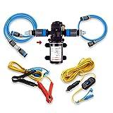 Camplux 12V Water Pump 6L/Min 65 PSI High Pressure Caravan Boat Gas Hot Water System
