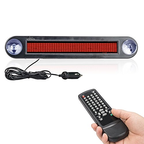 Dc 12v Remote Led Car Sign Programmable