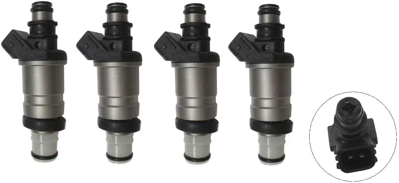 Set of 4 Re-Manufactured OEM Fuel Injectors for Honda Civic LX-HX-EX-DX-Valve 1.7L non-si type