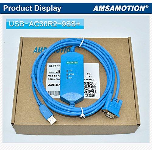AC30R2-9SS Cable Adaptador RS232 para PC para Mitsubishi Melsec PLC A970 A985 tiene