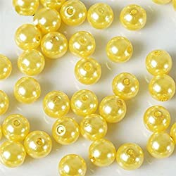 Efavormart 10MM Wedding Faux Pearl Beads Garland Vase Filler Flower Centerpiece Table Decoration - Yellow - 1000 PCS
