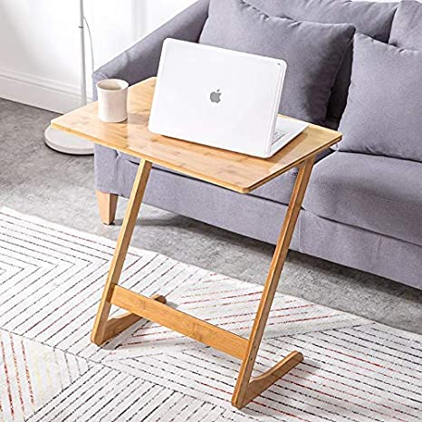 Amazon.com: Mesa auxiliar de bambú de 23.6 x 15.7 x 25.6 in ...