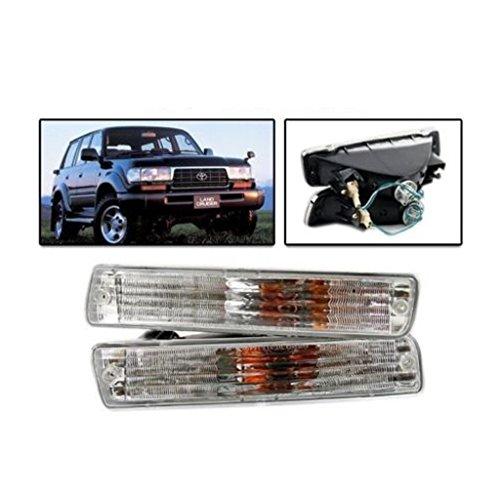80 Series Light (1 Pair Front Bumper Signal Light Lamp Landcruiser 80 series HZJ80R/ FJ80 Lexus 470 1991-1997)