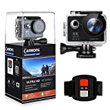 CAMKONG 4K Action Camera, Ultra HD Wifi Waterproof Action Cam 170 Degree Wide Angle 12 MP DV Camcorder Sports Camera with 2.4G Remote Control, 2Pcs Rechargerable Batteries, 19 Mounting Kits