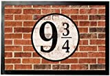 1art1 Brick Walls Door Mat Floor Mat - Platform Nine And Three-Quarters (24 x 16 inches)