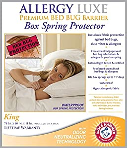 Allergy Luxe Premium Bed Bug Barrier Box Spring Protector