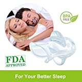 Anti Snoring Devices, Tongue Retainer Stop Snoring Solution Sleep Aid Night Snore Stopper Reducing with Case for Natural and Comfortable Sleep