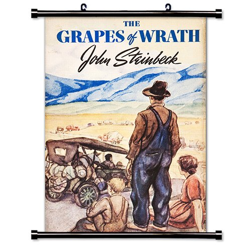 The Grapes of Wrath  Fabric Wall Scroll Poster  Inches