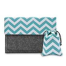 Laptop Sleeve Bag, Phenas Handmade Felt with Canvas macbook Sleeve Bag Case Cover for All 13-13.3 Inch Laptop Notebook / Macbook Pro / Macbook Unibody / Macbook Air / Ultrabook / Chromebook, Green