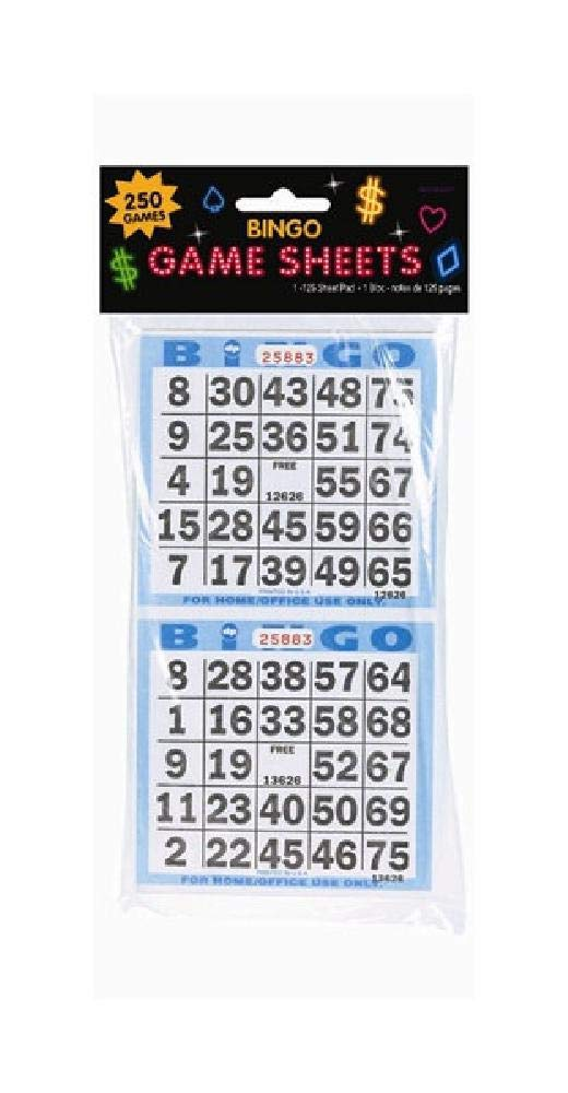 Bargain World Bingo Game Sheets (with Sticky Notes)