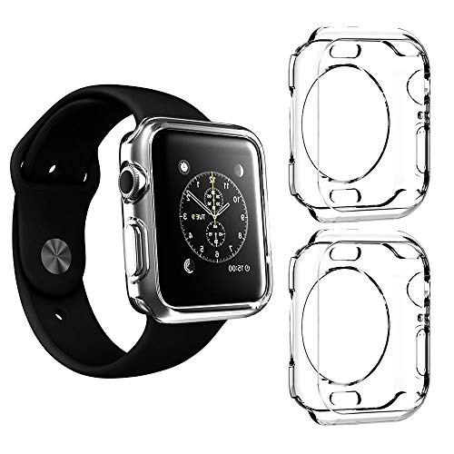 2 Packs, Jinxtech 40mm iWatch Case Soft TPU Shockproof Case Cover Bumper Protector Compatible with Apple Watch Case Series 4 (40mm)(Clear) by Jinxtech (Image #7)
