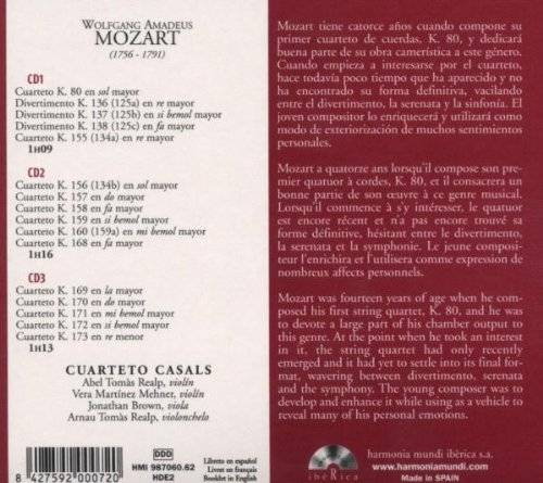 Mozart: Early String Quartets K80 136-38