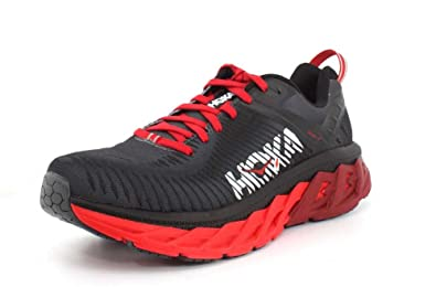 afd0983a1ee3 HOKA ONE ONE Mens Arahi 2 Black High Risk red Running Shoe - 8