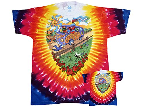 Liquid Blue Men's Grateful Dead Summer Tour Bus T-Shirt, Multi, Large