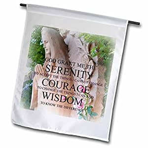 Patricia Sanders Flowers - Serenity Prayer Roses- Inspirational Photography- Spirituality - 18 x 27 inch Garden Flag (fl_39386_2)