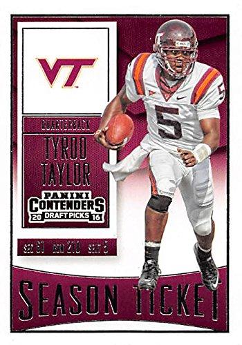cheap for discount a5ff2 1d5ea Tyrod Taylor football card (Virginia Tech Hokies) 2016 ...