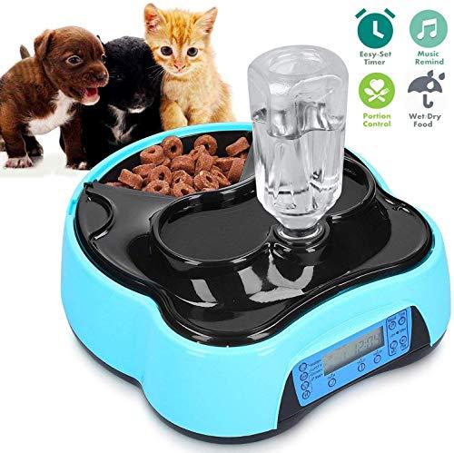 Futterautomat Katze, Automatischer Futterspender für Katze und Klein Hund, Pet Cat Feeder mit Timer, LCD Bildschirm und…