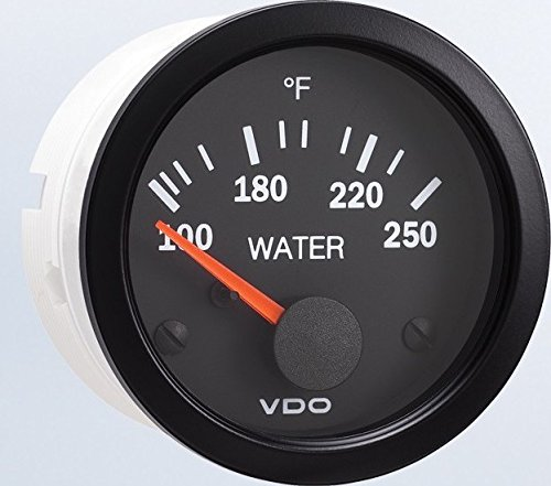 VDO 310105 Vision Style Electrical Water Temperature Gauge 2 1/16
