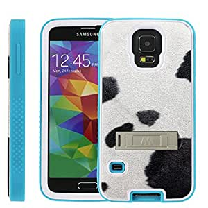 [ManiaGear] Rugged Advenced Armor-Stand Design Image Protect Case (Black White Dots) for Samsung Galaxy S5