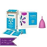 Lunette Menstrual Cup Starter Kit - Violet Model 2 & Wipe
