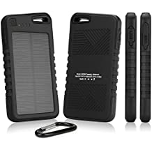 Contour Roam 2 Battery, BoxWave [Solar Rejuva PowerPack (5000mAh)] Solar Powered Backup Power Bank for Contour Roam 2 - Jet Black