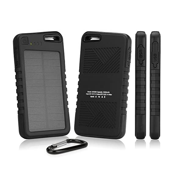 Samsung galaxy s8 plus battery, boxwave [solar rejuva powerpack (6000mah)] solar powered backup power bank for samsung… 2 portable power: charge your device on the go! Packed with 6000mah of power, the solar rejuva powerpack can charge your galaxy s8 plus up to 2-3 times! Solar energy: harness the power of the sun to recharge the rejuva powerpack's internal battery. Alternatively you can also charge it using the included usb cable from any usb power source. Bring it everywhere: includes a handy carabiner to clip on your keychain, bag, or tent!