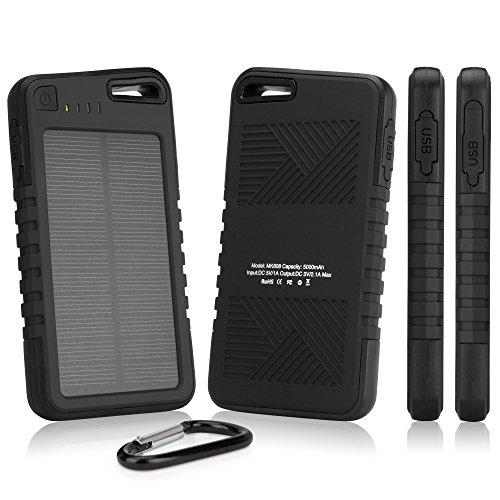 Apple iPhone 7 Plus Battery, BoxWave® [Solar Rejuva PowerPack (5000mAh)] Solar Powered Backup Power Bank for Apple iPhone 7 Plus - Jet Black