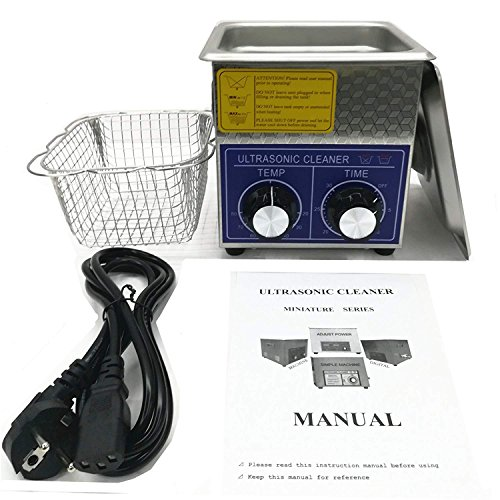 2L Professional Stainless Steel Ultrasonic Cleaner Eyeglasses Jewelry Cleaning machine Mechanical 2-80℃ heating 0-80 Timing adjustable