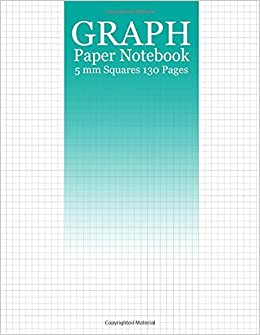 graph paper notebook 130 pages of 8 5x11 inches 5mm squares