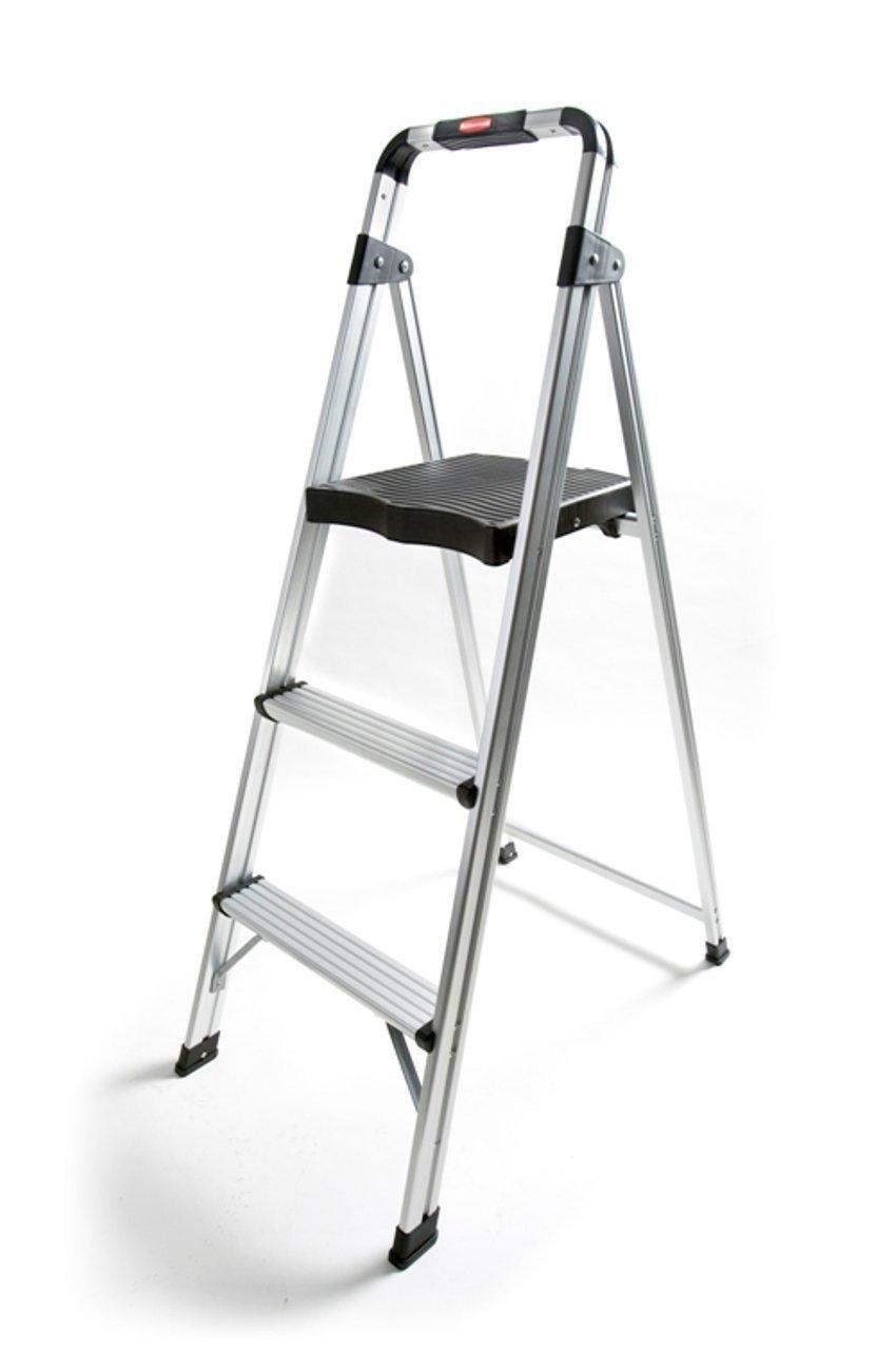 TruePower 3-Step Aluminum Ultra-Light Step Stool Ladder with 225 lb. Load Capacity