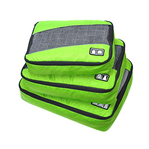 Cinhent Bag 3PCS/Set Super Convenient Outdoor Travel Kit Admission Package, Clothes Underwear Blanket Sorting Lightweight Waterproof Storage Bags, Kids School Start Camping Essential (Green) from Cinhent Bag
