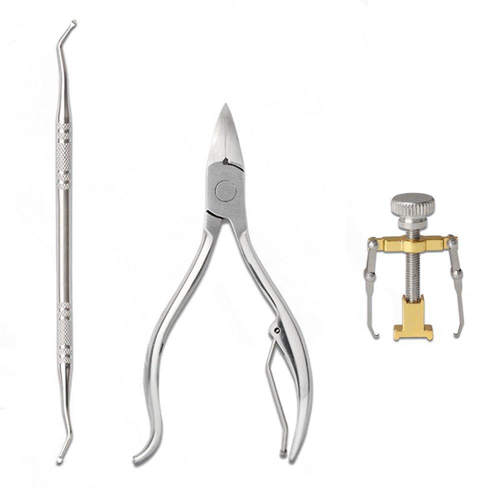 ProfessionalIngrown Toenail RecoverCorrection Brace Kit, Toe Nail manicure Tools,ToenailLifter, Thick Nails Clippers, Pedicure Toenail Fixer Foot Nail Care