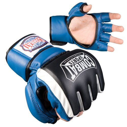 Combat Sports Mma Bag Gloves (Combat Sports Safety MMA Sparring Gloves (Blue, Large))