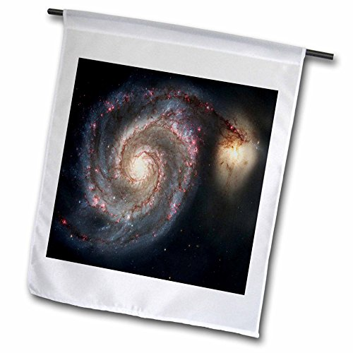 3dRose Florene Space - Photo Of Whirlpool Galaxy M 51 Messier - 18 x 27 inch Garden Flag (Messier Photo)