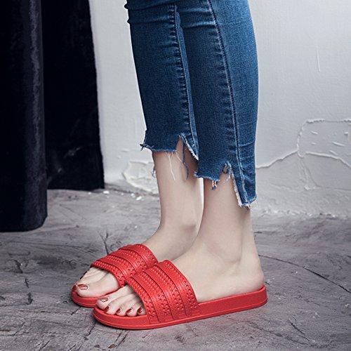 36 Q rojo cool macho nbsp;Zapatillas baño de de gruesos baños quedarme 35 blanda zapatillas antideslizante par un casa home Fankou mujer piso verano cubierta zapatillas gwHqBSB