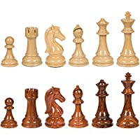 Nero High Polymer Extra Heavy Weighted Chess Pieces with Extra Queens - Pieces Only - No Board - 4.25 Inch King