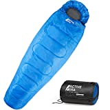 Active Era Mummy Sleeping Bag with Compression Sack for 3-4 Season – Lightweight, Water Resistant & Warm for Camping, Hiking, Fishing, Traveling and Outdoors