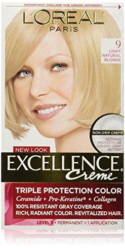 L'Oréal Paris Excellence Créme Permanent Hair Color, 9 Light Natural Blonde
